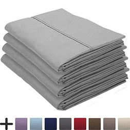 Bare Home 4 Pillowcases - Premium 1800 Ultra-Soft Collection
