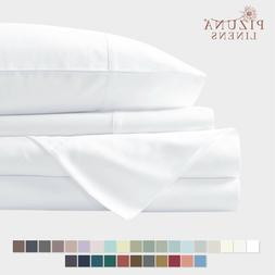 400 Thread Count White 6 Piece Queen Sheets Set Includes 2 B