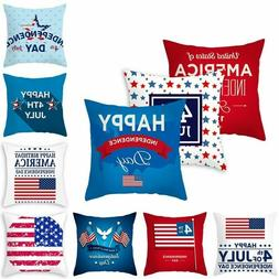 4th Of July Cushion Cover America USA Independence Day Pillo