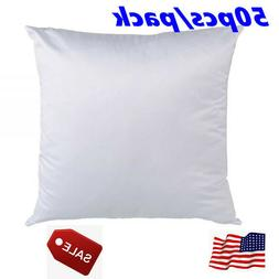 50 PACK White Sublimation Blank Polyester Pillow Case Cushio