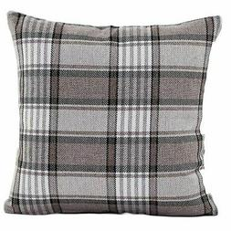 5X(Classic Checked Square Decorative Throw Pillow Case Cushi