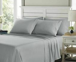 6 Piece Ultra Soft Bed Sheet Set Hotel Quality Egyptian with