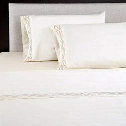 600 Thread Count Embroidered Pillowcase Set by Affluence