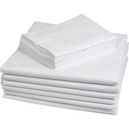 16 PIECE LOT NEW WHITE HOTEL PILLOW CASES COVERS T-180 STAND