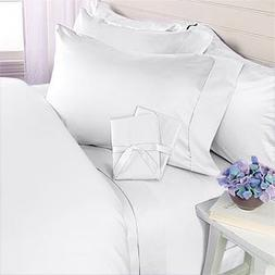Egyptian Bedding 800 Thread-Count, King Pillow Cases, White