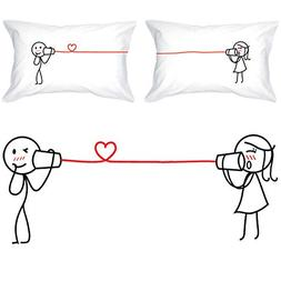 BoldLoft Say I Love You Too Couple Pillowcases-Valentines Gi