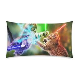 Bright Cat Fights Soft Pillow Case Cushion Cover 12 x 20 Inc