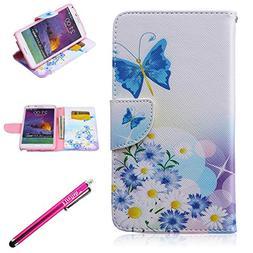 Galaxy Note 4 Case, Firefish Note 4 Case Leather wallet   Fa