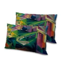 Abstract Printed Rectangular Pillow Cover Set Satin Decorati