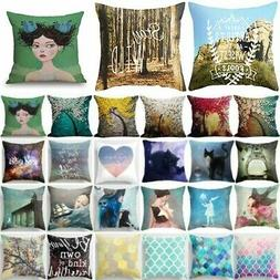 Abstract Square Pillow Cases Throw Pillow Cushion Cover Home