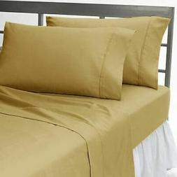 All US Sizes New Scala Bedding Items Beige Solid 1000 TC Egy