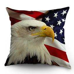 Moslion American Flag Eagle Pillow Covers Decorative Cool an