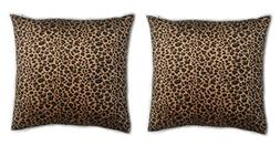 Ruth&Boaz Animal Print Short Faux Fur Throw Pillow Case Deco
