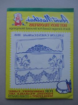 Aunt Martha's Hot Iron Transfers Pattern #3818 - 3 Pillow ca