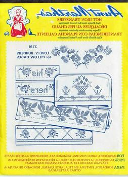 Aunt Martha's Hot Iron Transfers Pillow Case Borders for Emb