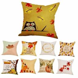 Autumn Colored Design Pillow Case Waist Sofa Bedroom Comfort