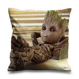 """BABY GROOT HOT LIFE Decorative Zippered Pillow Case 16"""" 18"""""""