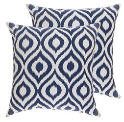 TreeWool Throw Pillow Cover Ikat Ogee Accent Pure Cotton Dec
