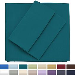 Premium Bamboo Bed Sheets - King Size, Dark Teal Sheet Set -