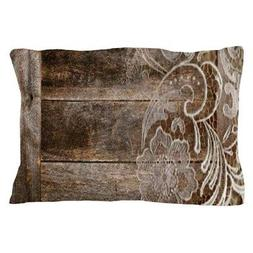CafePress Barn Wood Lace Western Country Pillow Case