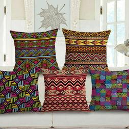 Bed Features Case Cover Home Cushion Africa Waist Cotton Car