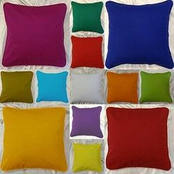 Bed Pillow Case Boudoir Pillow Cover 100% Cotton Solid Queen