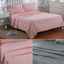 Bed Sheet Set - Deep Pocket Bed Fitted Sheet Pillow Case Mic