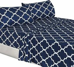 Utopia Bedding 3-Piece Bed Sheet Set  - 1 Flat Sheet, 1 Fitt