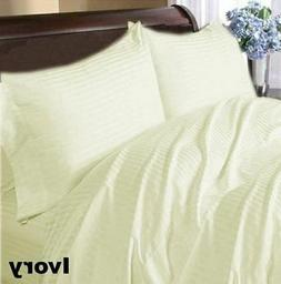 Scala Bedding Items All Sizes Ivory Stripe 1000 Thread Count