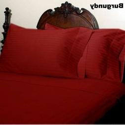 Brick Red Striped Sheet Set RV Camper /& BUNK Bed All Size 1000TC Egyptian Cotton