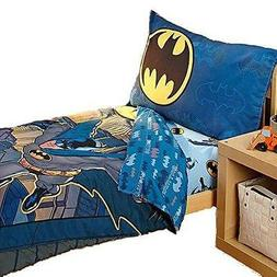 Batman Bedding Set Toddler Crib Boys Kids 4 Piece Bedspread