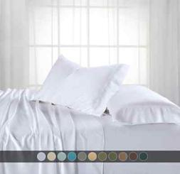 Deep Pocket 100% Pure Bamboo Softest Bed Sheets and Pillow C