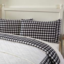 BLACK BUFFALO CHECK PILLOWCASE  : COUNTRY FARMHOUSE ANNIE PI