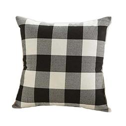 24 x 24 Inch Black and White Buffalo Check Plaids Throw Pill