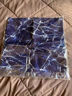 blue marble 14x14 pillow case set of