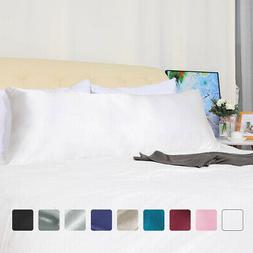 Body Pillow Case Soft Silky Satin Long Bedding Body Pillow C