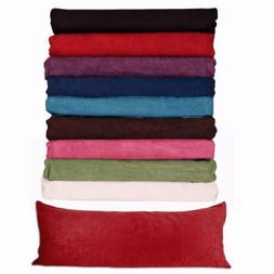 "Body Pillow ) Case Soft Micro Suede New 20""x 54"" 8 Colors AV"