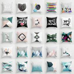 Geometric Polyester throw pillow case for sofa Chair cushion