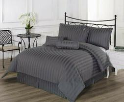 Brand New Bedding Set- 1000TC Grey 100% Egyptian Cotton Comp