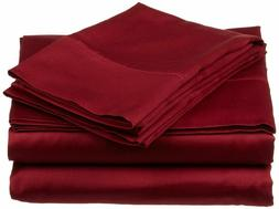 Branded Bedding Items 100% Cotton 800-TC Burgundy Solid  All