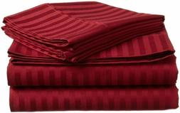 Branded Bedding Items 100% Cotton 800-TC Burgundy Stripe  Al