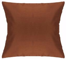 Brown Decorative Cushion Cover Pillow Case 12 - 32 Inch Poly