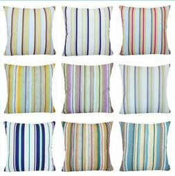 Striped Velvet Throw PILLOW COVER Sofa Bed Decorative Cushio