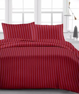 Burgundy Stripe Luxury Bedding Item 100% Cotton 15 inch Drop
