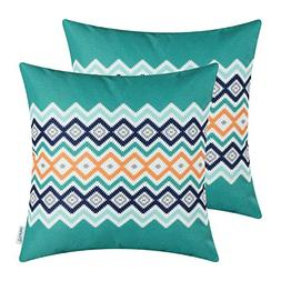 Pack of 2 CaliTime Canvas Throw Pillow Covers Cases for Couc