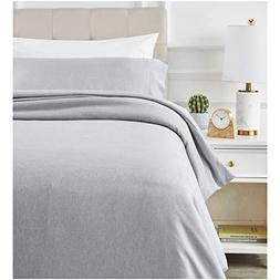 AmazonBasics Chambray Duvet Cover Set - Twin/Twin XL, Soft N