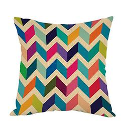 Moslion Chevron Pillow,Home Decor Throw Pillow Cover Multico