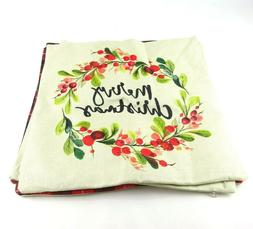 Christmas Pillow Cases Covers 18x18 Set of 4 Reindeer Tree M