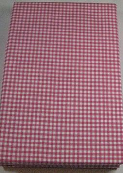 classic gingham pink pillow cases