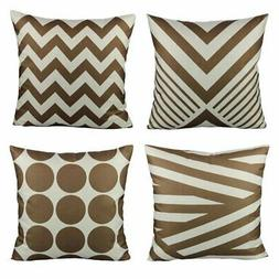 Coffee Chocolate Color Decorative Throw Pillow Cases 18x18 S